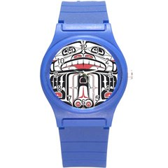 Ethnic Traditional Art Round Plastic Sport Watch (s)