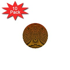Fractal Pattern 1  Mini Buttons (10 Pack)