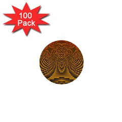 Fractal Pattern 1  Mini Buttons (100 Pack)