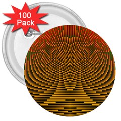 Fractal Pattern 3  Buttons (100 Pack)