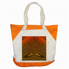 Fractal Pattern Accent Tote Bag
