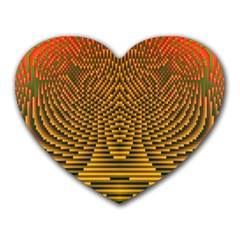 Fractal Pattern Heart Mousepads