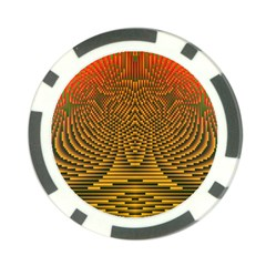 Fractal Pattern Poker Chip Card Guard