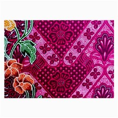 Pink Batik Cloth Fabric Large Glasses Cloth (2 Side)
