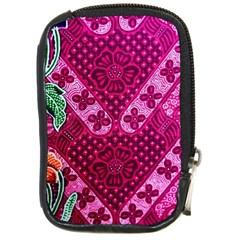 Pink Batik Cloth Fabric Compact Camera Cases