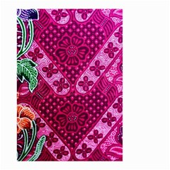 Pink Batik Cloth Fabric Small Garden Flag (two Sides)