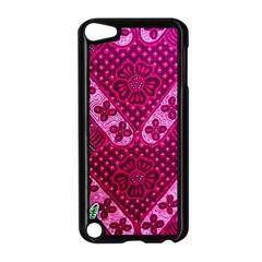 Pink Batik Cloth Fabric Apple Ipod Touch 5 Case (black)