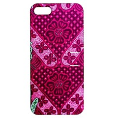 Pink Batik Cloth Fabric Apple Iphone 5 Hardshell Case With Stand