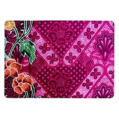 Pink Batik Cloth Fabric Samsung Galaxy Tab 10 1  P7500 Flip Case