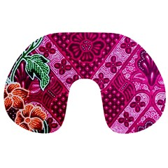 Pink Batik Cloth Fabric Travel Neck Pillows