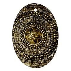 Gold Roman Shield Costume Ornament (oval)
