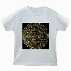 Gold Roman Shield Costume Kids White T Shirts