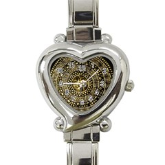 Gold Roman Shield Costume Heart Italian Charm Watch