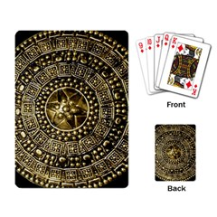 Gold Roman Shield Costume Playing Card