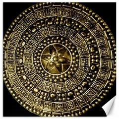 Gold Roman Shield Costume Canvas 12  X 12
