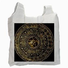 Gold Roman Shield Costume Recycle Bag (two Side)