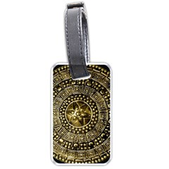 Gold Roman Shield Costume Luggage Tags (one Side)