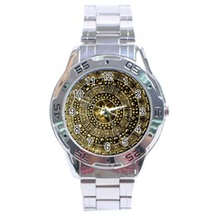 Gold Roman Shield Costume Stainless Steel Analogue Watch