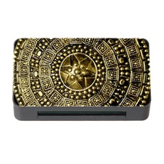 Gold Roman Shield Costume Memory Card Reader With Cf