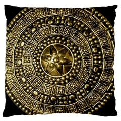 Gold Roman Shield Costume Large Cushion Case (two Sides)