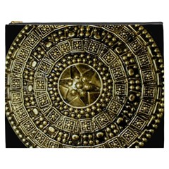 Gold Roman Shield Costume Cosmetic Bag (xxxl)
