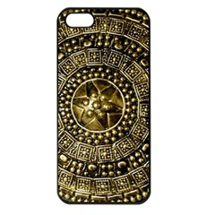 Gold Roman Shield Costume Apple Iphone 5 Seamless Case (black)