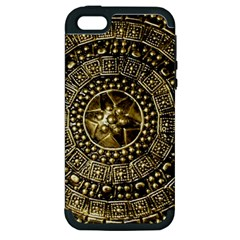 Gold Roman Shield Costume Apple Iphone 5 Hardshell Case (pc+silicone)