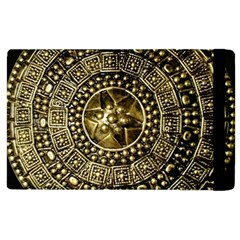 Gold Roman Shield Costume Apple Ipad 3/4 Flip Case