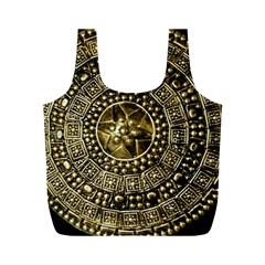 Gold Roman Shield Costume Full Print Recycle Bags (m)