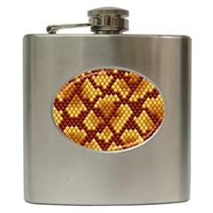 Snake Skin Pattern Vector Hip Flask (6 Oz)