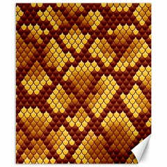 Snake Skin Pattern Vector Canvas 8  X 10