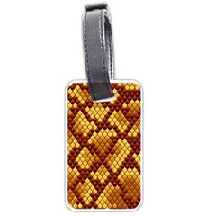 Snake Skin Pattern Vector Luggage Tags (two Sides)