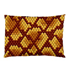 Snake Skin Pattern Vector Pillow Case (two Sides)