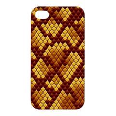 Snake Skin Pattern Vector Apple Iphone 4/4s Premium Hardshell Case