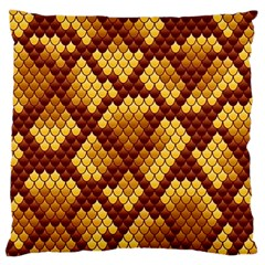 Snake Skin Pattern Vector Large Cushion Case (two Sides)