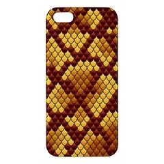 Snake Skin Pattern Vector Apple Iphone 5 Premium Hardshell Case