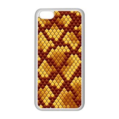 Snake Skin Pattern Vector Apple Iphone 5c Seamless Case (white)