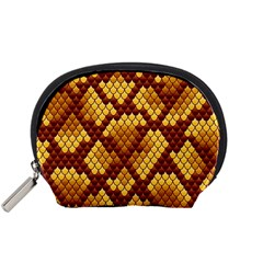 Snake Skin Pattern Vector Accessory Pouches (small)