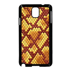 Snake Skin Pattern Vector Samsung Galaxy Note 3 Neo Hardshell Case (black)