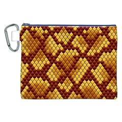 Snake Skin Pattern Vector Canvas Cosmetic Bag (xxl)
