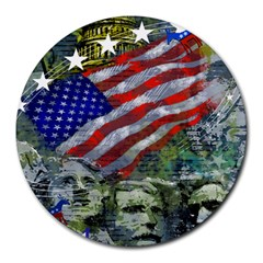 Usa United States Of America Images Independence Day Round Mousepads