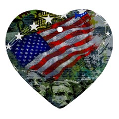 Usa United States Of America Images Independence Day Ornament (heart)