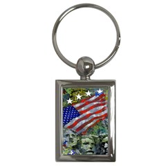 Usa United States Of America Images Independence Day Key Chains (rectangle)