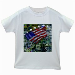 Usa United States Of America Images Independence Day Kids White T Shirts