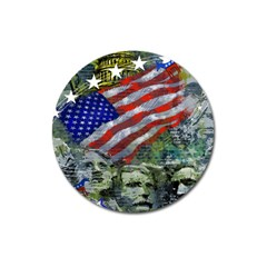Usa United States Of America Images Independence Day Magnet 3  (round)