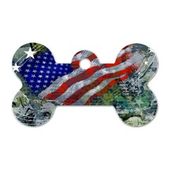 Usa United States Of America Images Independence Day Dog Tag Bone (one Side)