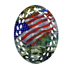 Usa United States Of America Images Independence Day Ornament (oval Filigree)