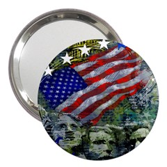 Usa United States Of America Images Independence Day 3  Handbag Mirrors