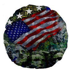 Usa United States Of America Images Independence Day Large 18  Premium Round Cushions