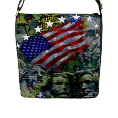 Usa United States Of America Images Independence Day Flap Messenger Bag (l)